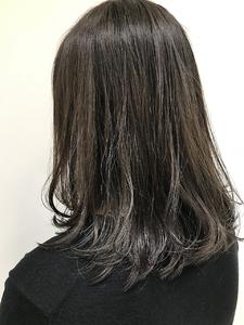 【EuphoriaHARAJUKU】透け感カラー♪ダークグレー☆担当宍戸|Euphoria HARAJUKUのヘアスタイル