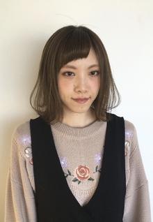 【Euphoria】切りっぱなしボブ×ハイトーンアッシュ★担当黒田|Euphoria HARAJUKUのヘアスタイル
