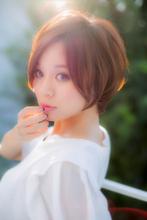 大人かわいい前下がりショートスタイル|Euphoria SHIBUYA GRANDE 土田 哲也のヘアスタイル