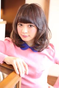 チョコレートカラー☆フェミニンカール