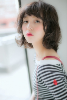 起きぬけの無造作感★黒髪でも似合うパーマ|Euphoria SHIBUYA GRANDEのヘアスタイル