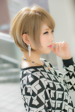 【Euphoria/三田淑絵】ハイトーンアッシュ系、ショートスタイル|Euphoria 【ユーフォリア】新宿店のヘアスタイル