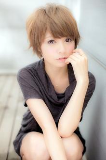 ルーズな外はねがかわいい☆ナチュラルショート☆  Euphoria【ユーフォリア】新宿通りのヘアスタイル