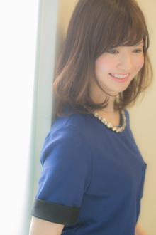 揺れるカールに気品が漂う☆清楚なミディボブ♪ Euphoria【ユーフォリア】新宿通りのヘアスタイル