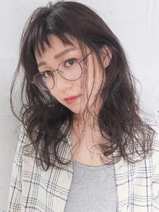 カジュアルで柔らかいアンニュイセミディ|FAIR LADY 下北沢店のヘアスタイル
