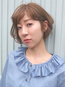 ふわっとスウィートなひし形ショートボブ|FAIR LADY 下北沢店のヘアスタイル