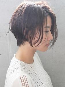 ウエットに透けさせる前下がりコンパクトショート|FAIR LADY 下北沢店のヘアスタイル