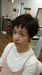 爽やかでキュートなショートスタイル|atelier Fish&Flower 箱作本店のヘアスタイル