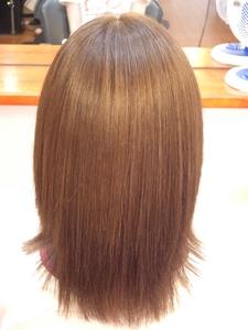 カラー後のストレートで手触り抜群!!|フレンド美容室のヘアスタイル