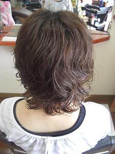 ミコノスで大きなカール+しっかり|フレンド美容室のヘアスタイル
