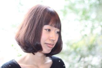 前髪がとても印象的でマンネリを打破してくれるスタイルです|fulgente 瑞浪店のヘアスタイル