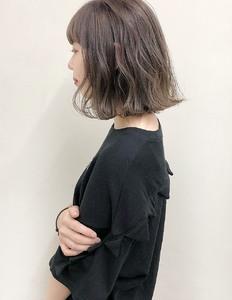 流行りの切りっぱなしボブでオシャレに☆|garden Hair-create spaceのヘアスタイル