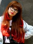 毛先ONビビットカラーでオシャレ度ランクアップ!|GUZZLE HARAJUKUのヘアスタイル