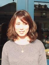 アッシュカラーミディアムロング|hair Shantii 河内国分店のヘアスタイル