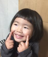 あえて、切りっぱなし風にカットラインを作り、セットなしでもかわいく仕上がります!|hair shantii yuriのキッズヘアスタイル