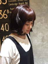 あえて暗めでかわいいけど大人カラーで!|hair shantii yuriのヘアスタイル