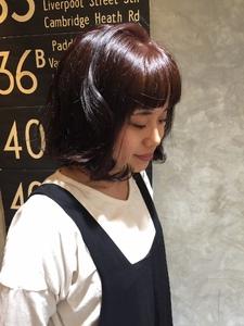 あえて暗めでかわいいけど大人カラーで!|hair shantiiのヘアスタイル