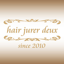 hair jurer deux  | ヘアジュレドゥ 【名古屋・栄の美容室・美容院・ヘアサロン】 のロゴ
