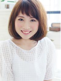 モテ可愛い☆甘めバングふわミディ