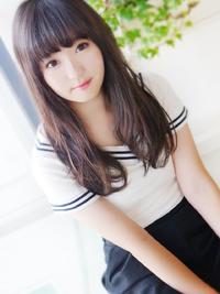 大人可愛い黒髪☆無造作セミディ☆