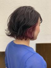 インナーピンクバイオレット HAIR MAKE FEEL 本店 仲村 千夏のヘアスタイル