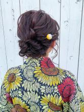 浴衣アレンジ HAIR MAKE FEEL 本店 仲村 千夏のヘアスタイル
