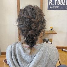 編み下ろしパーティーヘア|HAIR MAKE FEEL 本店のヘアスタイル