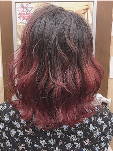 チェリーレッド HAIR MAKE FEEL 本店のヘアスタイル