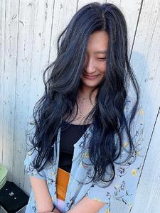 ネイビーアッシュ|HAIR MAKE FEEL 本店のヘアスタイル