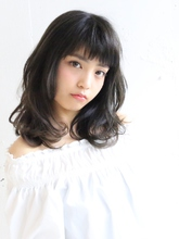 ショートバングミディ|S. HAIR SALON 宮澤 卓也のヘアスタイル