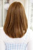 毛先のパサつきを抑えたしっとりしたAラインヘア