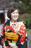 アンティーク着物で卒業式 十詣り
