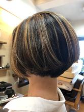 しっかりハイライト!|hair stage O2 松向 ふみのヘアスタイル