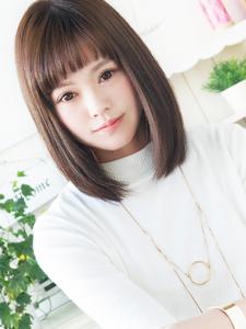 美Natural 可愛い艶さらストレートボブ☆|JurerBelleのヘアスタイル