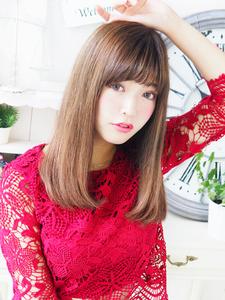 しなやか女子☆艶ストレートセミディ☆|JurerBelleのヘアスタイル