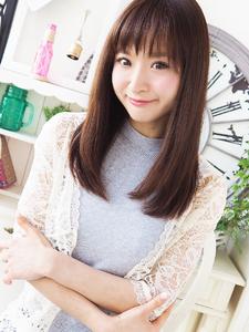 大人清楚な美女子ストレートセミディ☆|JurerBelleのヘアスタイル
