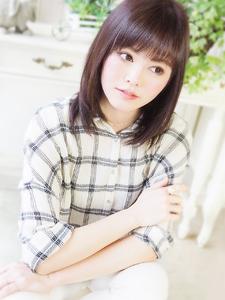 艶さら可愛いストレートミディ☆|JurerBelleのヘアスタイル
