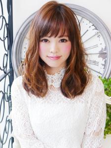 ふわ揺れ愛されキュートバングセミディ☆|JurerBelleのヘアスタイル