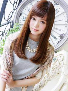 美女子☆可愛い〜ストレートセミディ|JurerBelleのヘアスタイル
