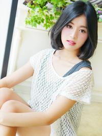 カジュアル大人女子☆黒髪ふわミディ