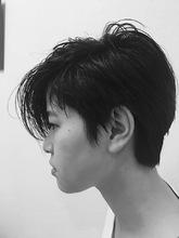 アシメショートスタイル|髪結ぃやのヘアスタイル