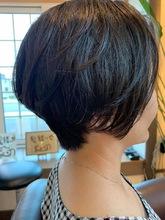 キレイめショートボブ|髪結ぃやのヘアスタイル