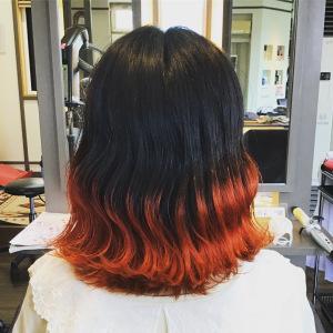 鬼滅カラー 髪結ぃやのヘアスタイル