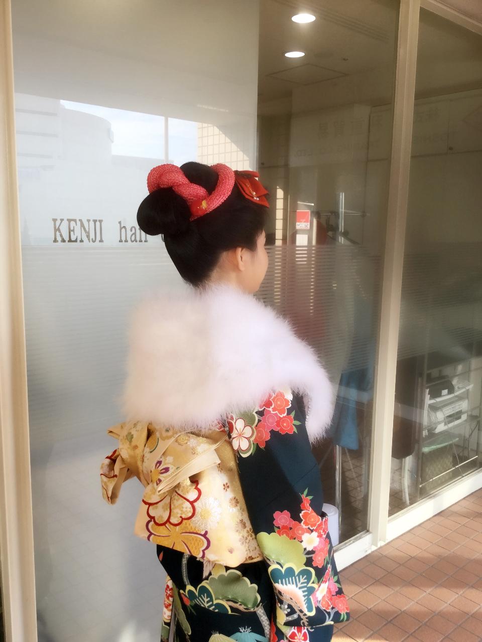 日本髪風アップスタイル