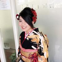 成人式!ナチュラルまとめ髪カールアップスタイル!!