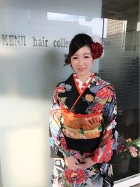 成人式まとめ髪編み込みスタイル