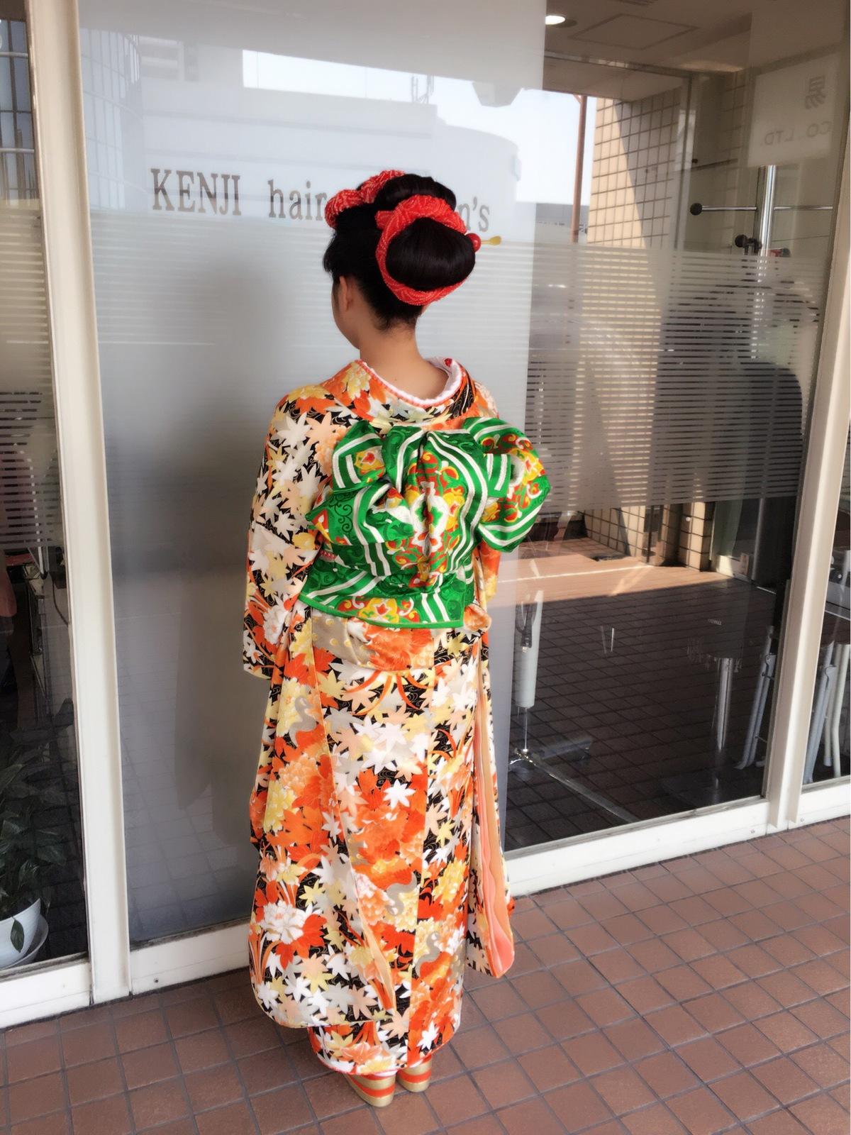 日本髪風上品なまとめ髪アップスタイル!!!