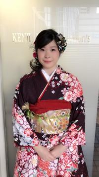 2018成人式ダウンスタイルサイドまとめ髪!