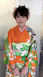 お花アレンジの編み込みまとめ髪アップスタイル!|KENJI hair collection's 西宮店のヘアスタイル