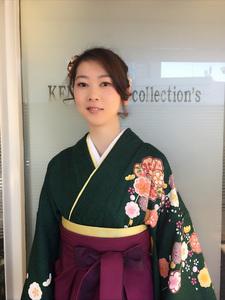 卒業式ルーズゆるふわまとめ髪アップスタイル!!!|KENJI hair collection's 西宮店のヘアスタイル